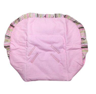 Capa De Bebê Conforto Rosa Listrado 0,48 x 0,82cm