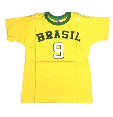 Camiseta do Brasil 9 Tam 8/12