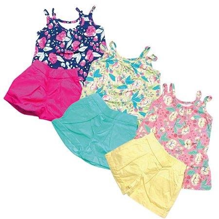 Conjunto Blusa e Shorts Feminino Infantil 4/10