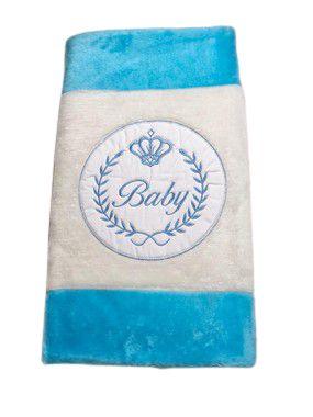 Tapete Infantil Baby Coroa Azul
