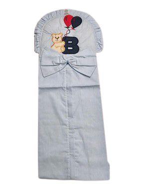 Porta Fralda de Urso Azul Listrado