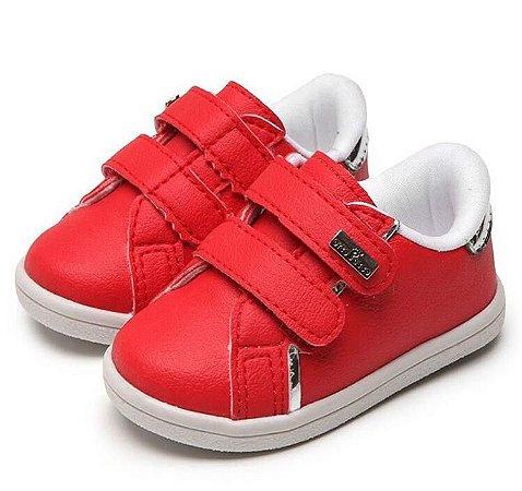 Tênis de Velcro Minions Vermelho
