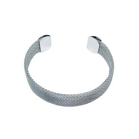 Pulseira bracelete estilo malha italiana