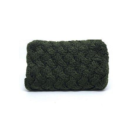 Gola tricot ponto entrelaçado