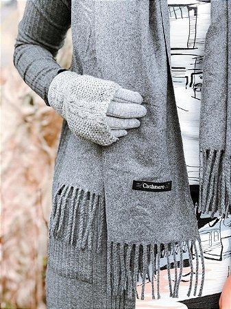Luva com tricot 2 em 1