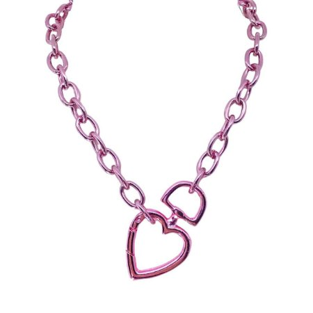 Colar Pink Chain bicolor folheado