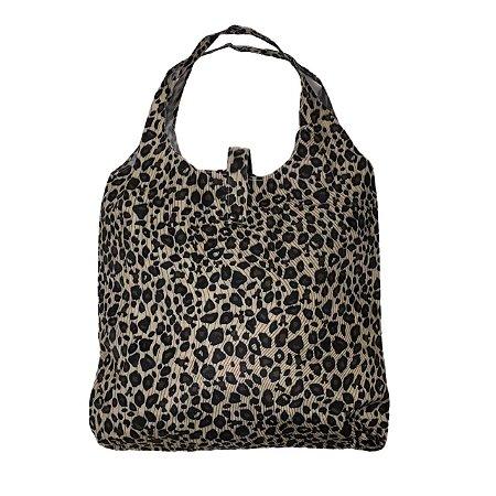 Bolsa sacola dobrável com mini sacola para guardar