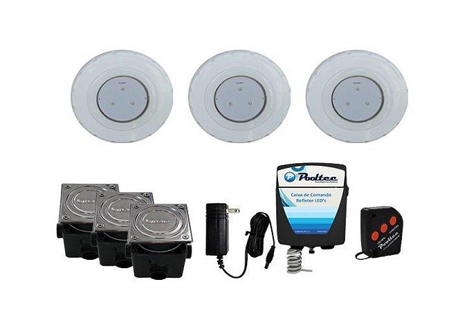 Kit de Iluminação Pooltec Para Piscinas de Até 42 Mts² - SUPER LED 3 ABS