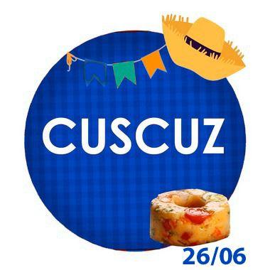 CUSCUZ -250g - RETIRADA SOMENTE NO DIA DA FESTA COM HORÁRIO PREVIAMENTE AGENDADO  26 de junho