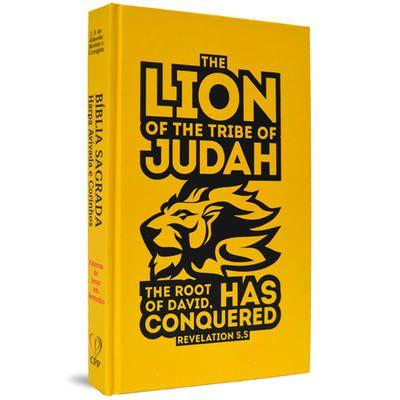 Bíblia com Harpa capa dura - Lion of Judah