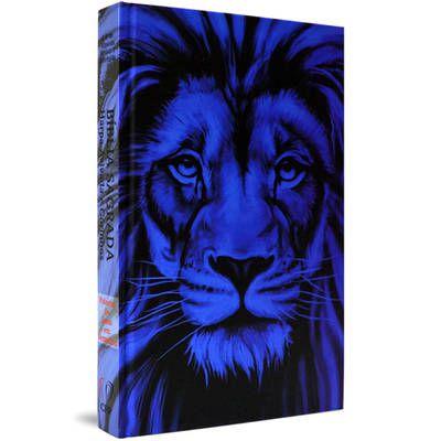 Bíblia com Harpa capa dura - Leão Azul