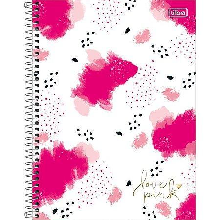 Caderno C/D 10 Materias Love Pink 160 Folhas Tilibra