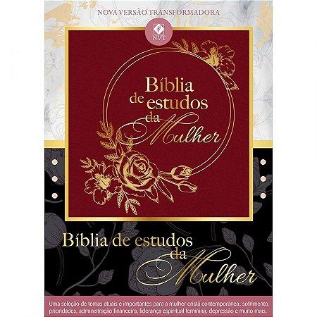 Bíblia de Estudo da Mulher | NVT | Luxo | Vinho