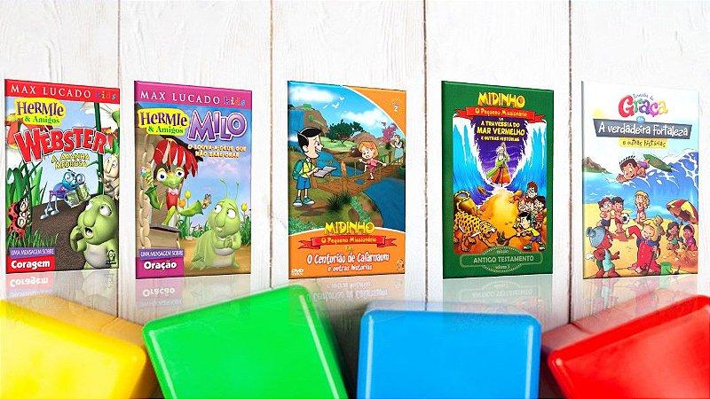 kiT CRIANÇAS CRESCENDO NA GRAÇA  - 5  DVDS