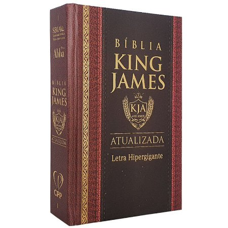 Bíblia King James Atualizada   KJA   Letra Hipergigante   Capa Dura Clássica