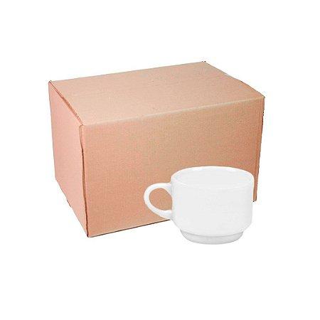 Caixa Xícara s/ Pires Gourmet Porcelana 180 ml