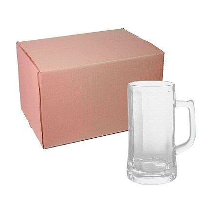 Caixa Caneca Chopp de Vidro 500 ml para Sublimação