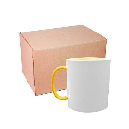 Caixa Caneca Polímero com Interior e Alça Amarelo