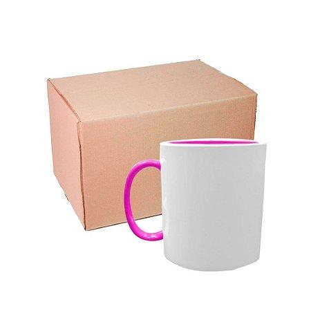 Caixa Caneca Polímero com Interior e Alça Rosa