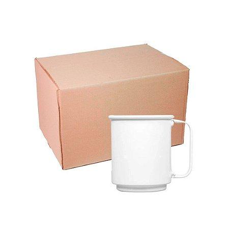 Caixa Caneca Alumínio Branca Chopp 400 ml