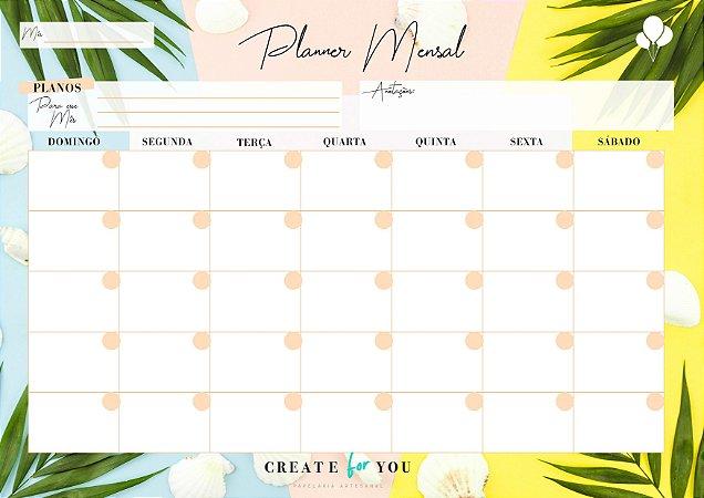 Planner Mensal - Verão