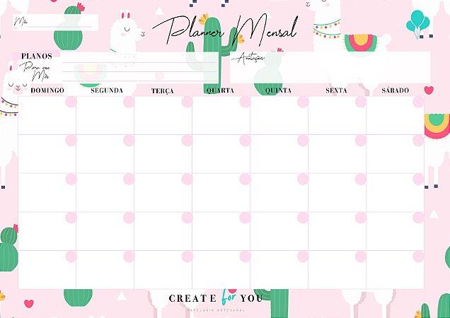 Planner Mensal - Lhama