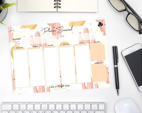 Planner Semanal - Cacto Feliz