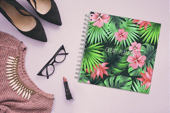 Create Planner - Floral Verde Rosa
