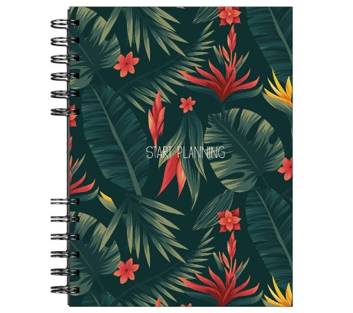 Start Planning - Floral Verde escuro
