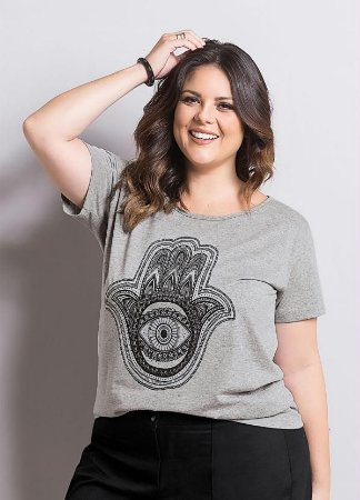 T-shirt Mescla Plus Size