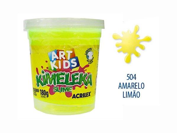 BRINQUEDO KIMELEKA SLIME 180G R.0504 AMARELO LIMAO
