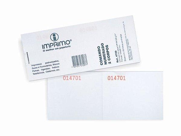 IMPRESSO COMANDO 2 CORPOS 100FLS R.4720 || PCT-C/20