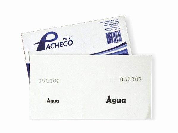 IMPRESSO FICHA DE BAR AGUA 50 FLS R.262    PCT-C/20