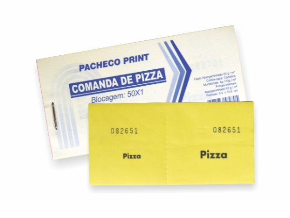 IMPRESSO FICHA DE BAR PIZZA 50 FLS R.270    PCT-C/20
