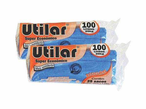 SACO P/ LIXO UTILAR 100 LITROS AZUL