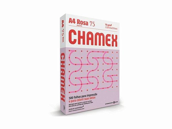 PAPEL CHAMEX A4 COLORS 75GRS 500FLS ROSA    PCT UNID