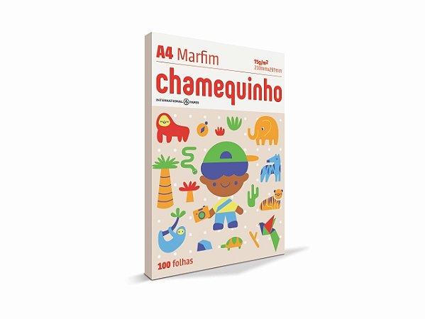 PAPEL CHAMEQUINHO A4 75G 100FLS MARFIM || PCT UNID