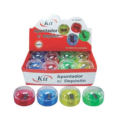 APONTADOR ESC. C/ DEPOSITO REDONDO REF. MK 0804 || CAIXA C/24