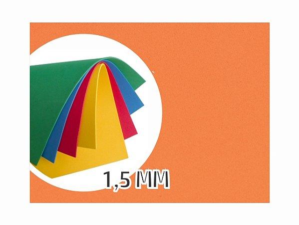 BORRACHA EVA 40X48X1.5MM LARANJA EVA-008 || PCT C/10