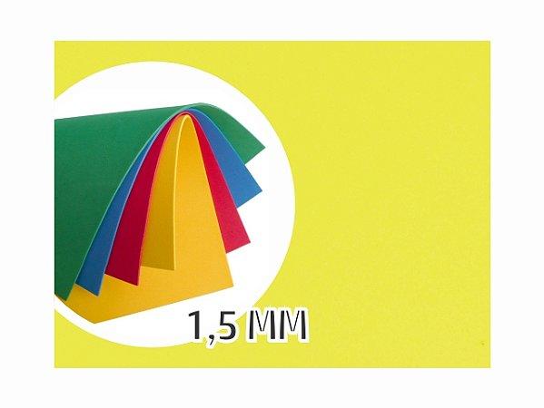 BORRACHA EVA 40X48X1.5MM AMARELO EVA-011 || PCT C/10