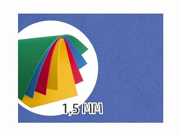 BORRACHA EVA 40X48X1.5MM AZUL ESCURO EVA-018 || PCT C/10