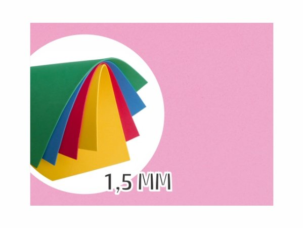 BORRACHA EVA 40X48X1.5MM ROSA EVA-052 || PCT C/10