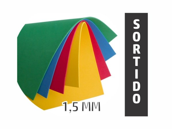 BORRACHA EVA 40X48X1.5MM SORTIDO EVA-100 || PCT C/10