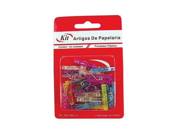 PRENDEDOR MINI PLASTICO KIT 25 PCS R.AUC5005 || CAIXA UNID