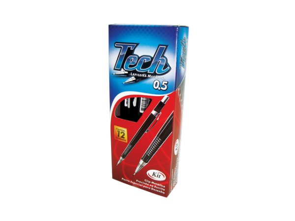 LAPISEIRA KIT TECH 0,5 PL-9505 PRETO || CAIXA C/12