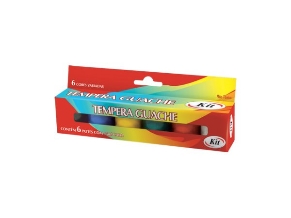 TEMPERA GUACHE 15 ML C/6 CORES KIT    IND UNID