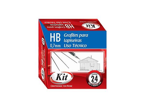 GRAFITE 0.7 HB KIT 24 MINAS || CAIXA C/24