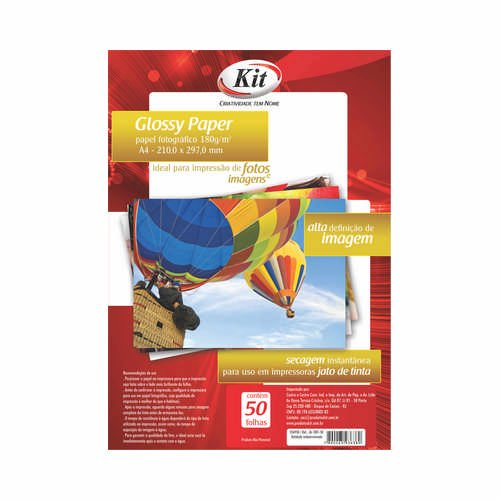 PAPEL GLOSSY PAPER 180GR A4 R.JA-1001-50 || PCT C/50
