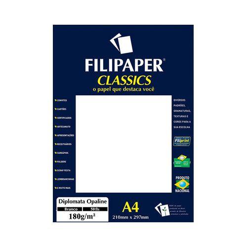 PAPEL FILIPAPER DIPLOMATA 180GRS BRANCO R1445 || PCT C/50