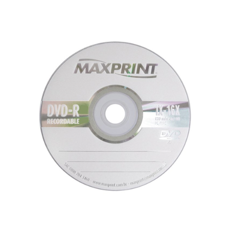 DVD-R 4,7GB MAXPRINT 16X-ENVELOPE REF.50200-3 || IND UNID